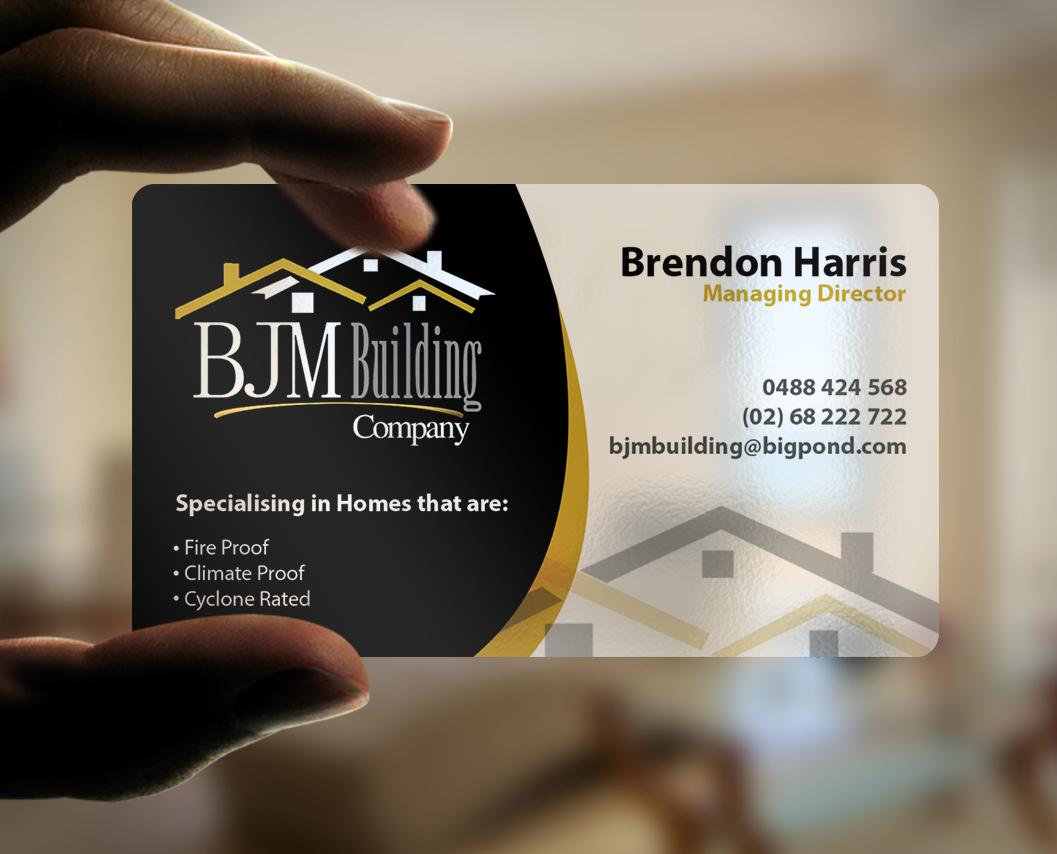 Business Card Design By Creativmindsja For Bjm Building 8466229