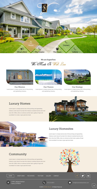 Upmarket Property Development Brochures : Upmarket elegant real estate development web design for