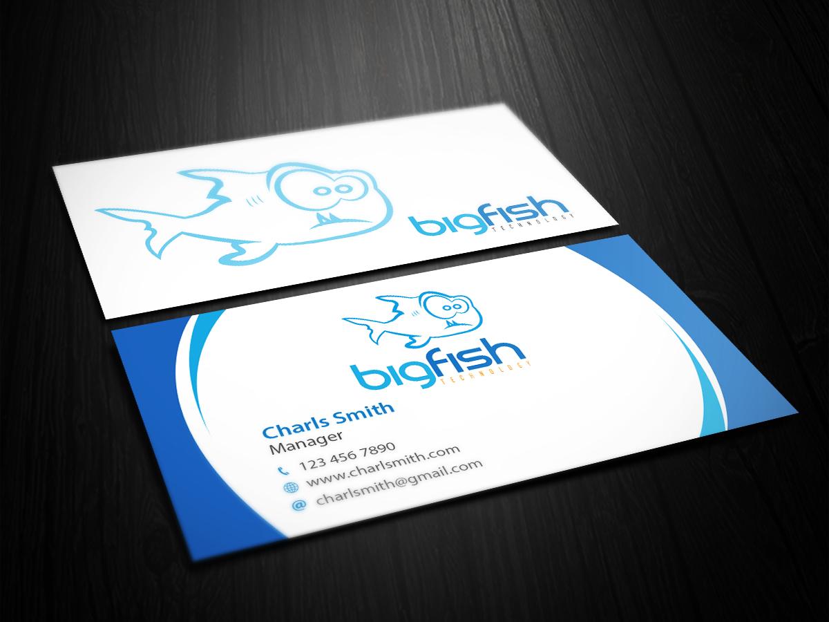 Professional, Elegant, It Company Business Card Design for Big Fish ...