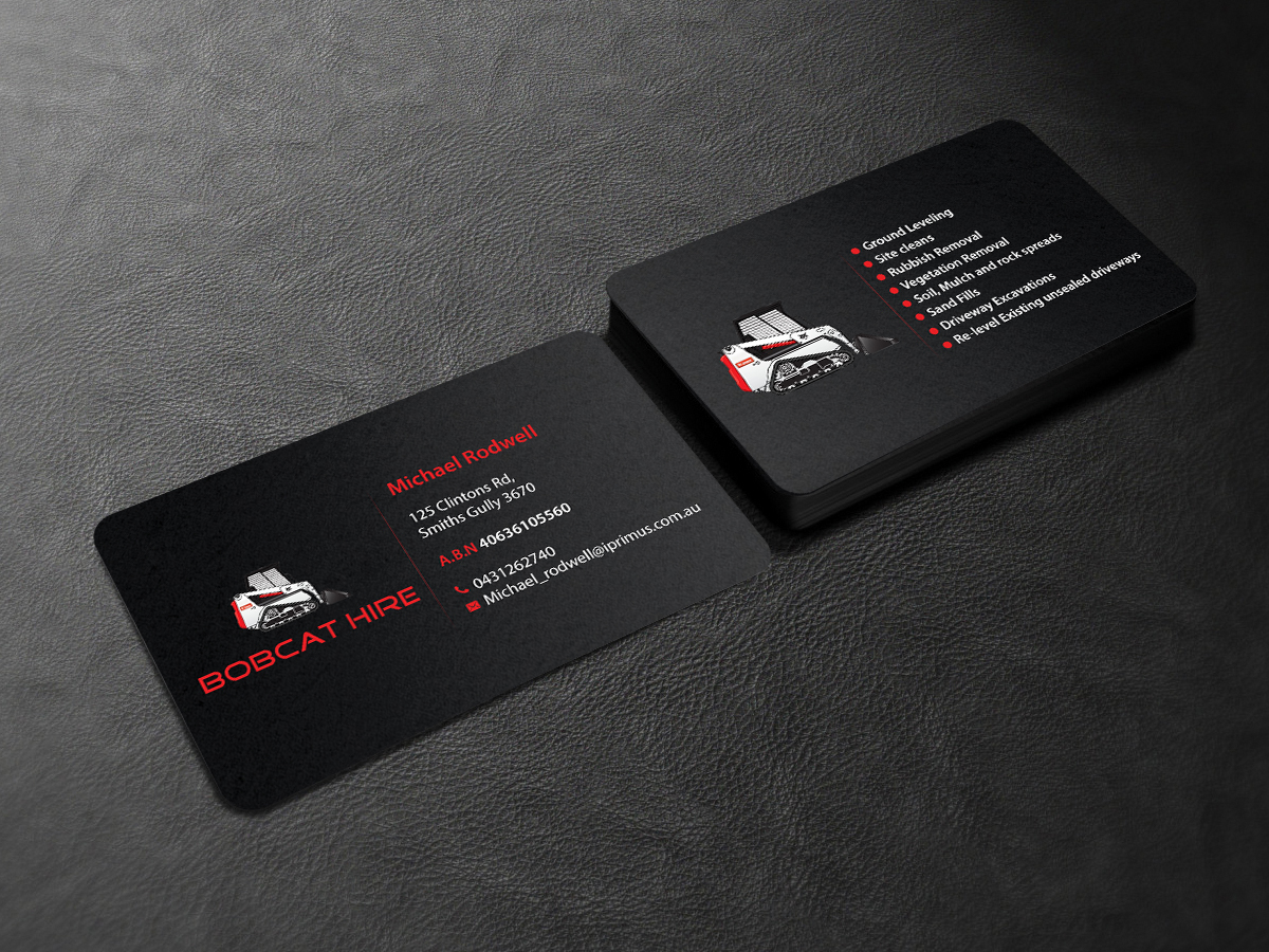 Serious, Bold, Construction Business Card Design for a Company by ...