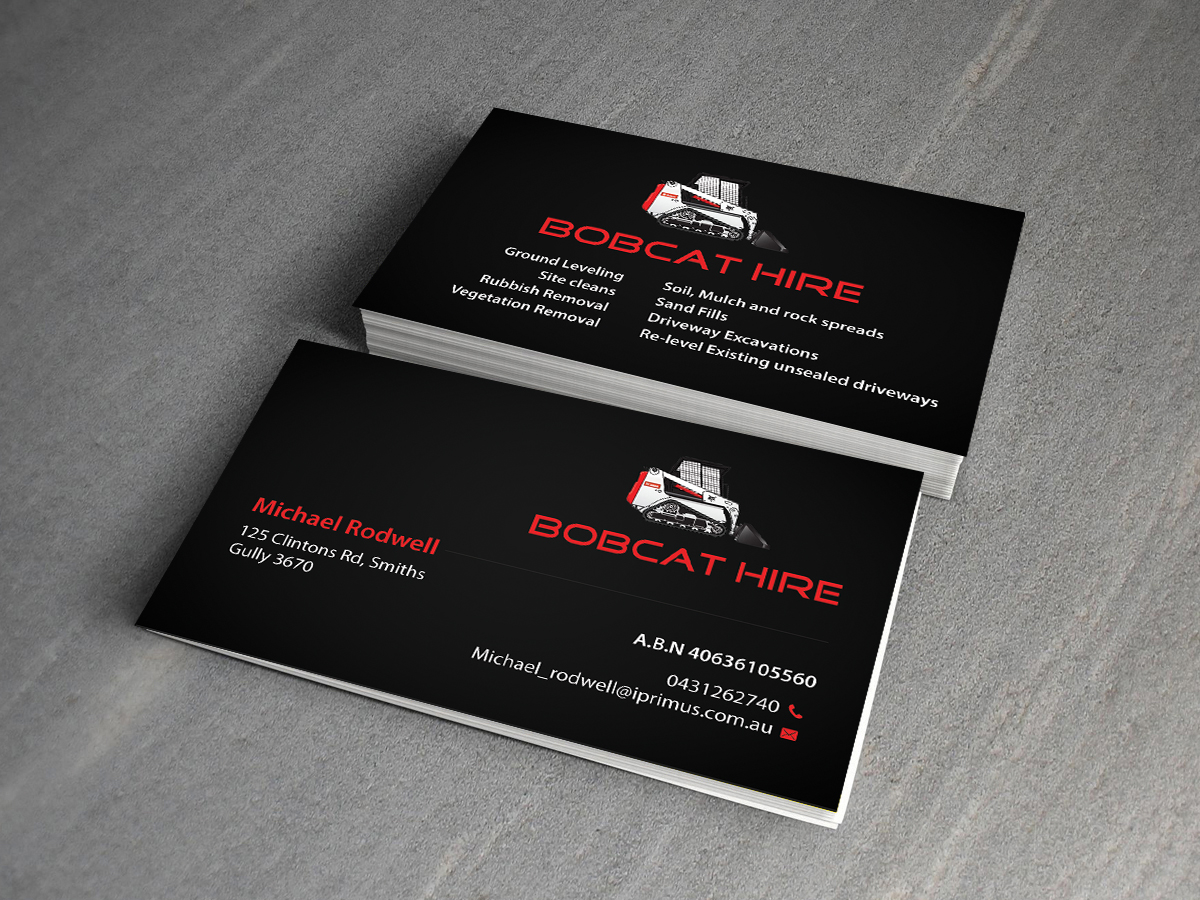 Serious bold construction business card design for a company by business card design by creations box 2015 for this project design 8416096 reheart Choice Image