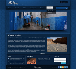 Wordpress Design job – Moroccan Wordpress D'fina Exhibit Design  – Winning design by pb