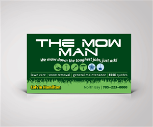 Elegant playful business card design design for the mow for Lawn care t shirt designs