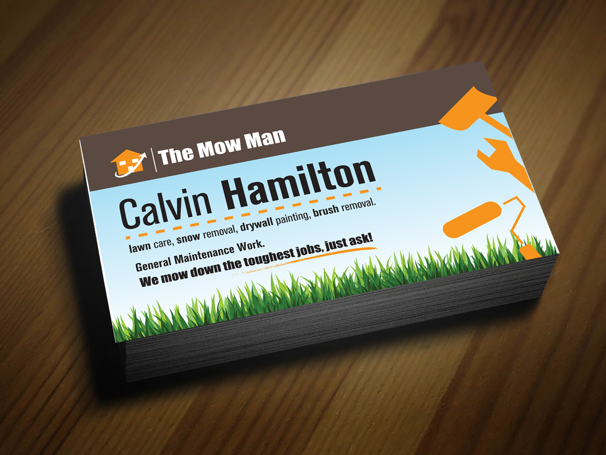 Elegant, Playful, Business Business Card Design for The Mow Man- in ...