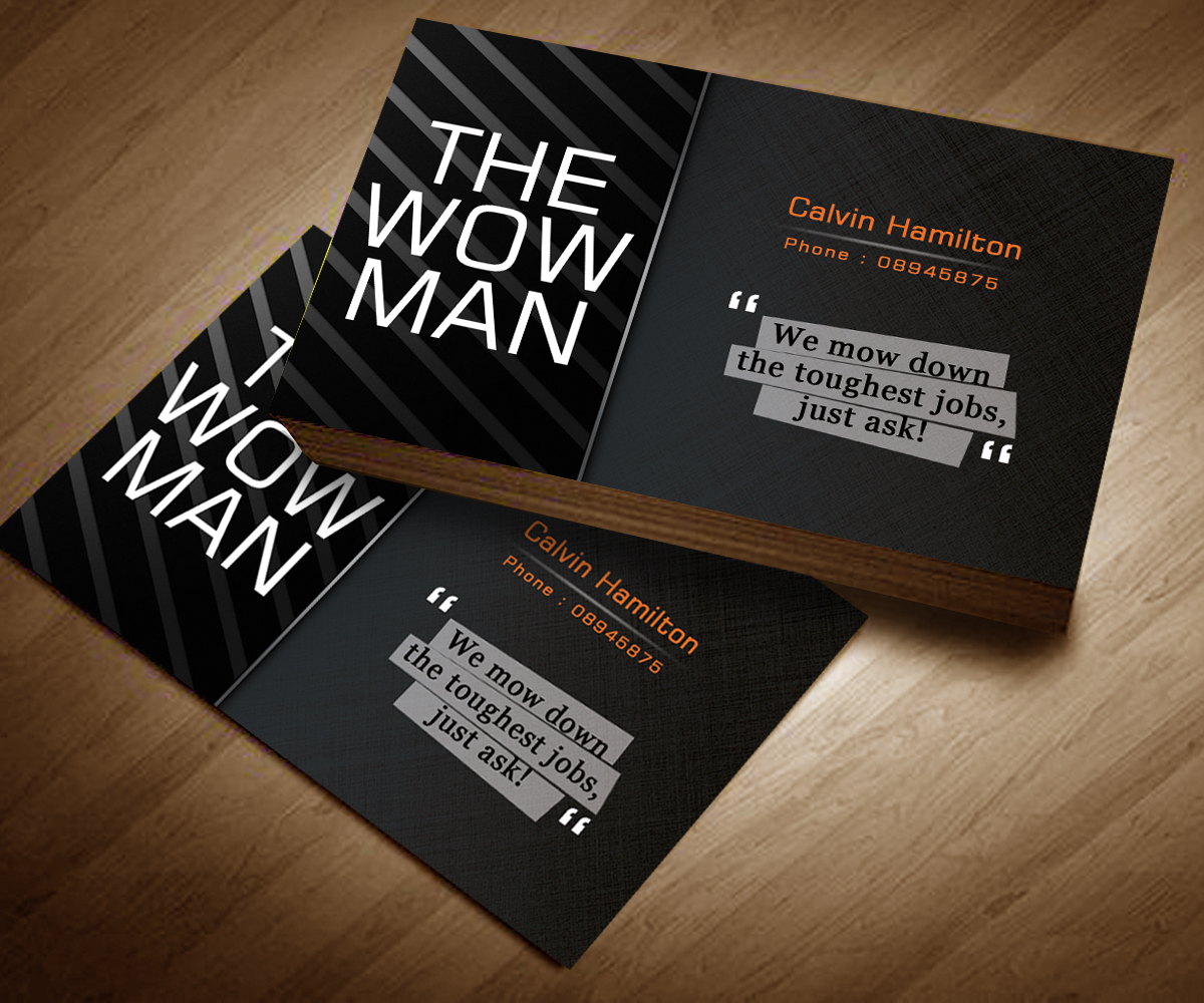Elegant, Playful Business Card Design for The Mow Man by Danny ...