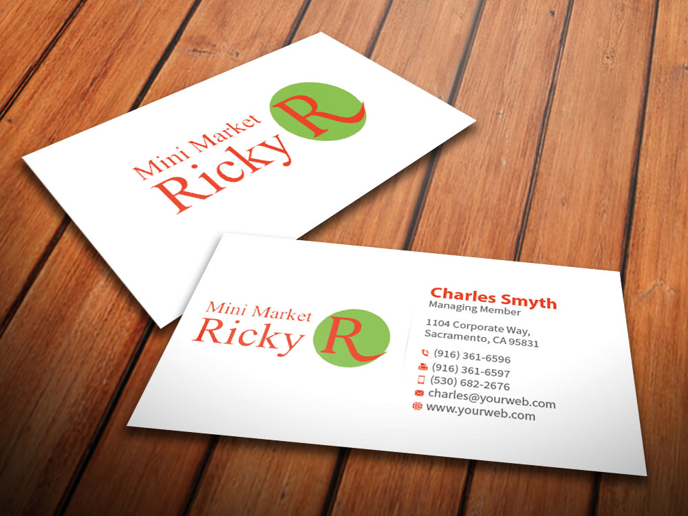 Upmarket, Serious, Grocery Store Business Card Design for Mini ...