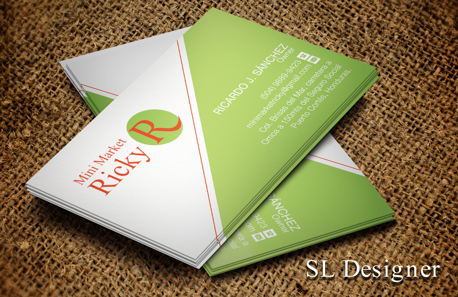 Upmarket serious grocery store business card design for mini business card design by sl designer for mini market ricky design 8410071 reheart Images