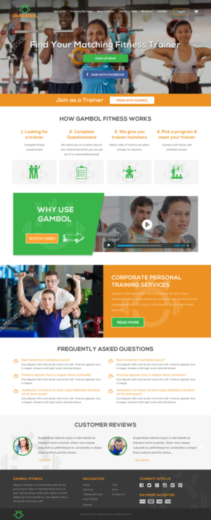 23 Personable Colorful Fitness Web Designs for a Fitness business ...