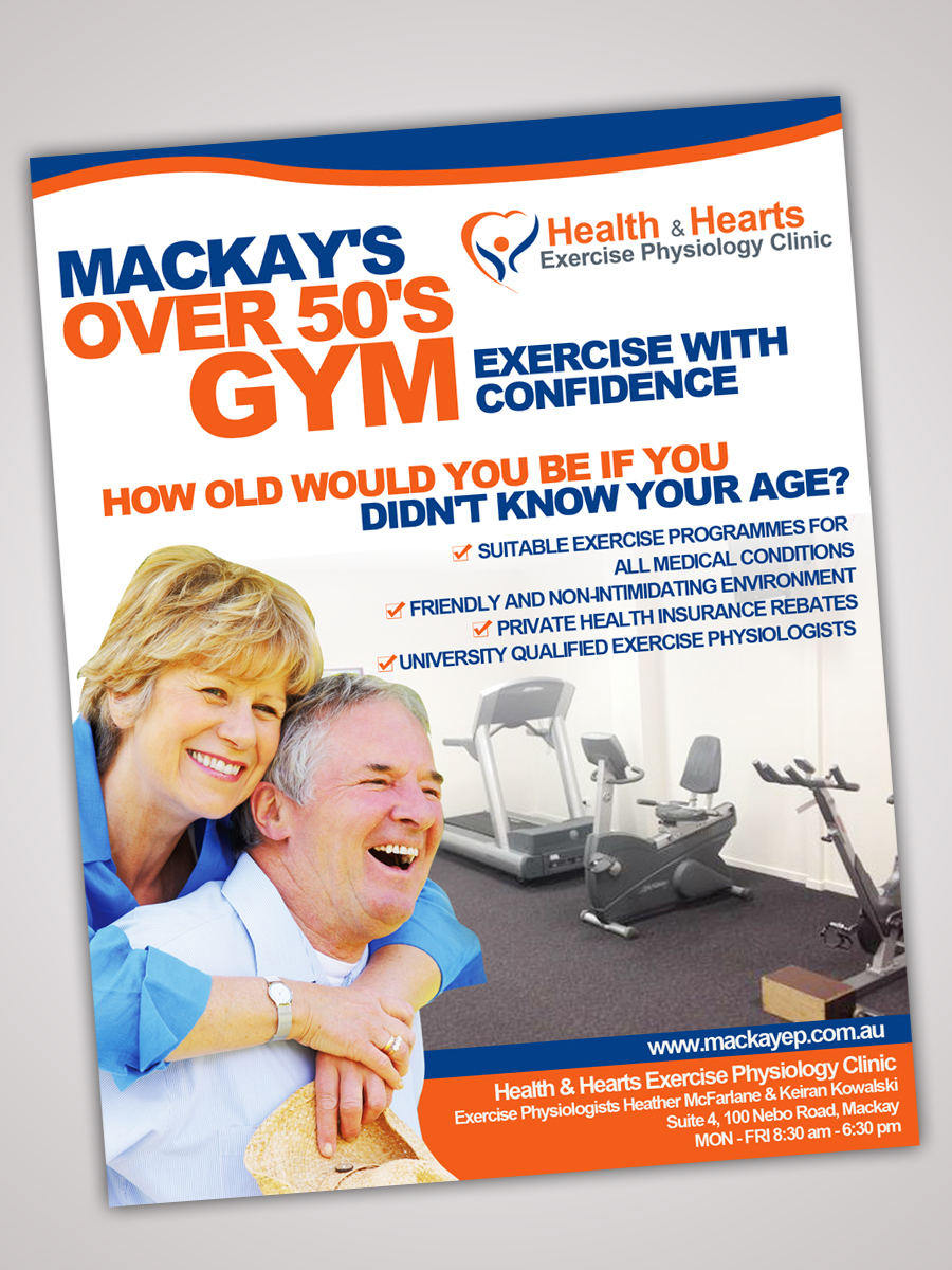 Poster design 50s - Poster Design By One Day Graphics For Poster Design Project For Over 50 S Gym Design