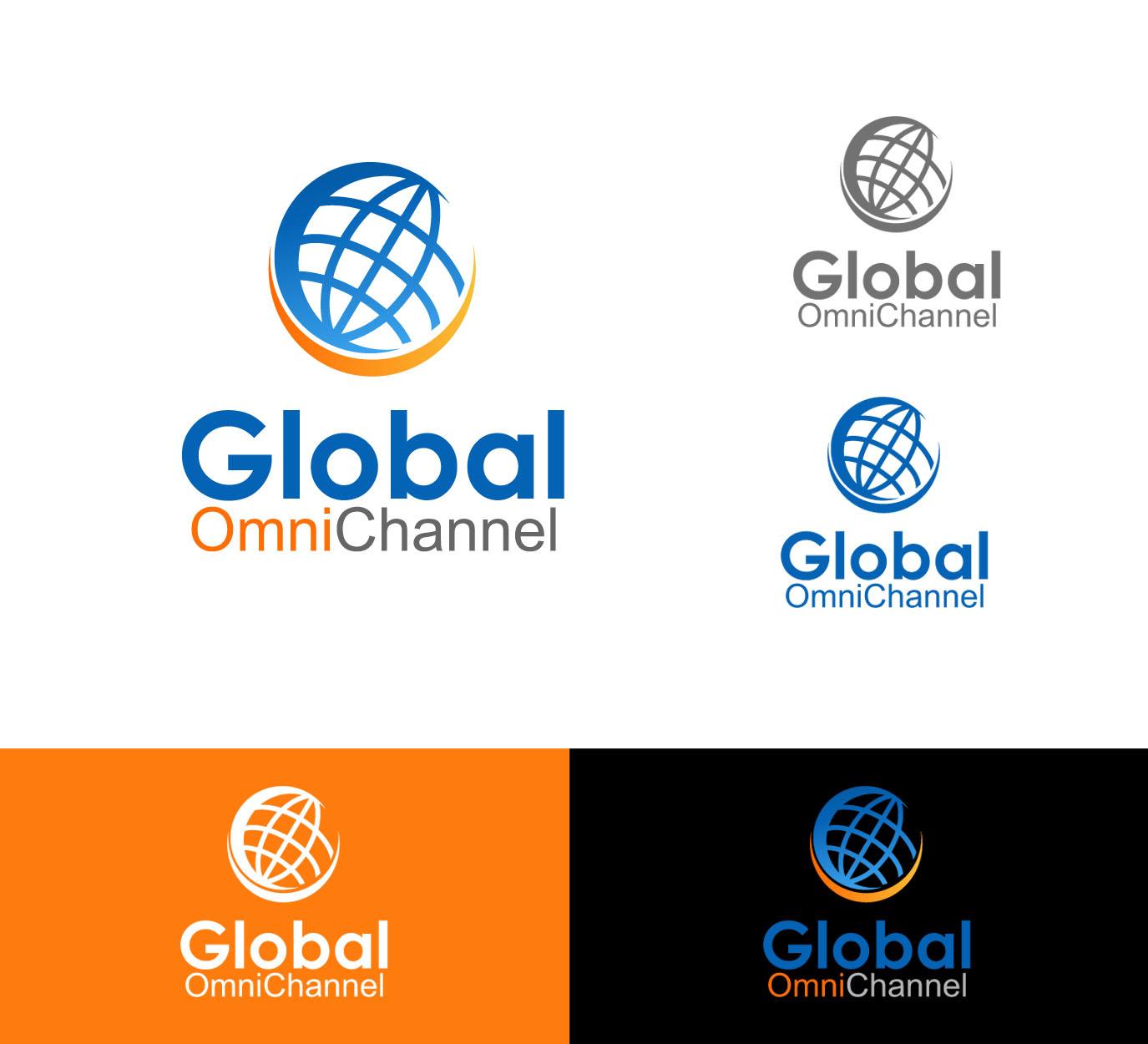 elegant modern computer software logo design for global