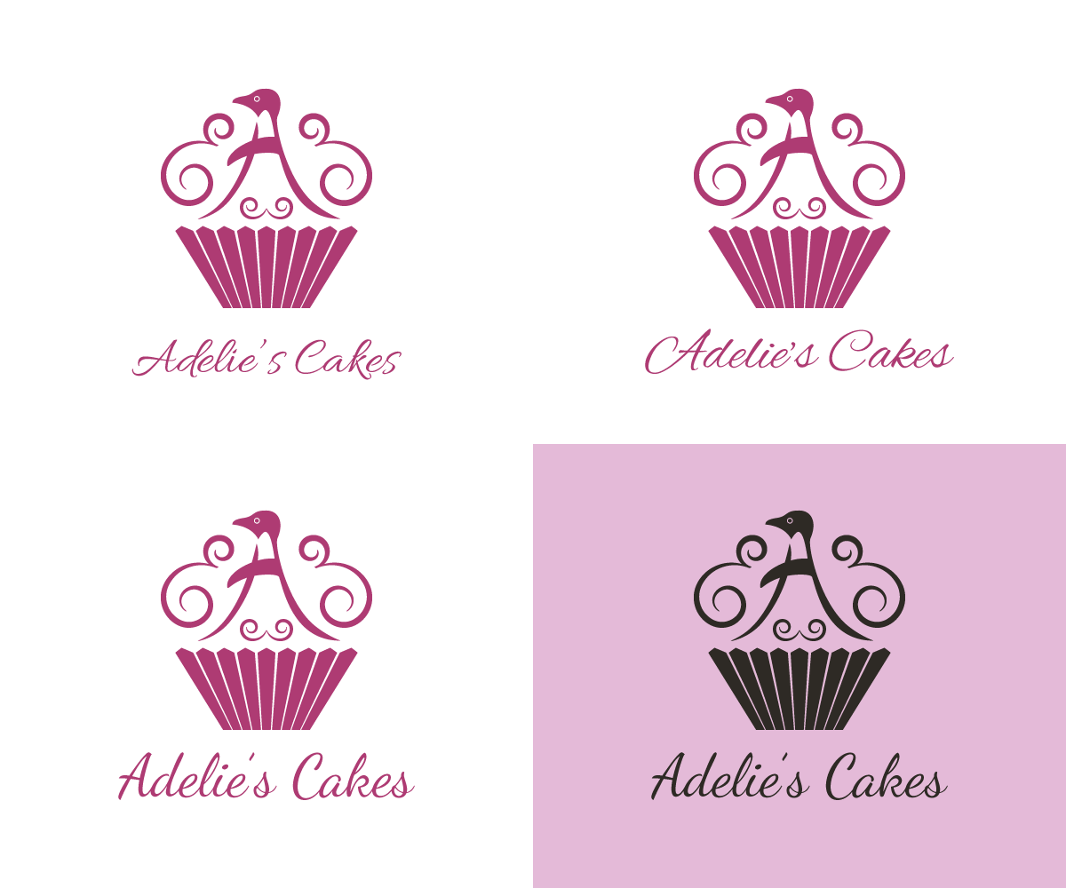 Upmarket Modern Logo Design For Adelie S Cakes By Kitchenfoil Design 2038038