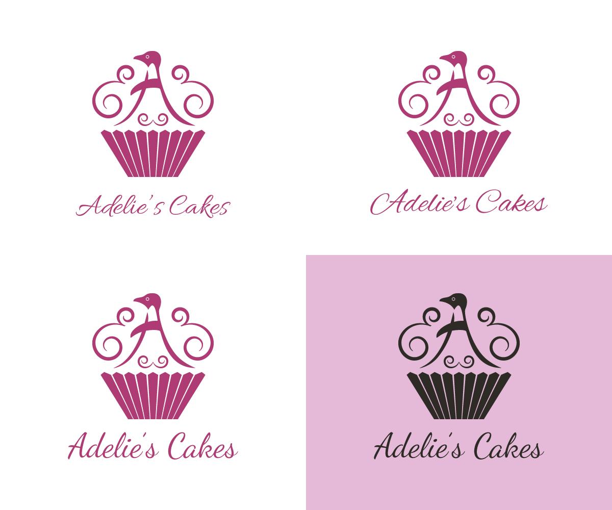 upmarket modern logo design for adelie s cakes by