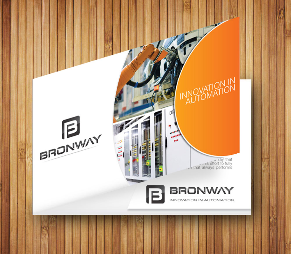 Elegant Playful It Company Brochure Design For Bronway Automation