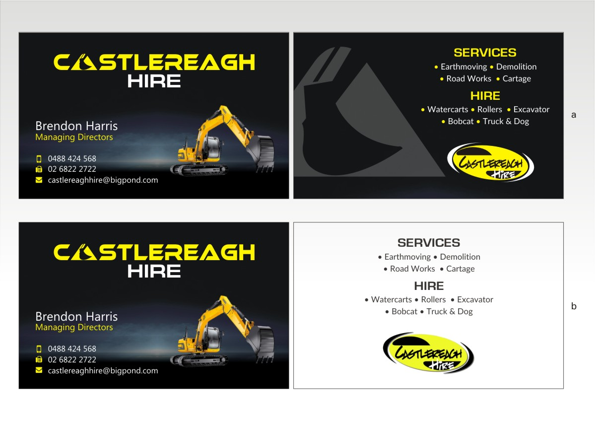 Masculine bold business card design for bjm building by poonam business card design by poonam gupta for earthmoving and roadworks company looking for a fresh and colourmoves