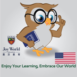 Text on the mascot: Joy World or JW   Mascot Design by Kings Bishop Design