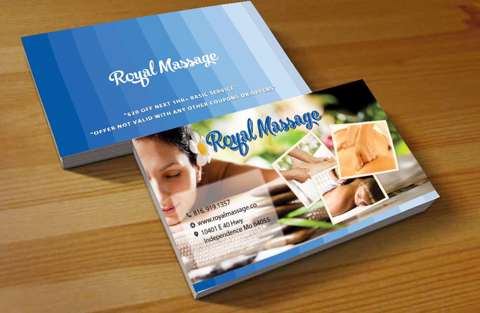 Elegant, Playful, Business Business Card Design for Royal Massage by ...