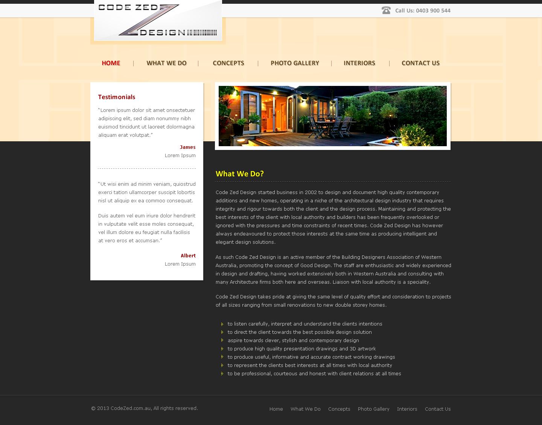 Elegant, Upmarket, Construction Web Design for Perth Web