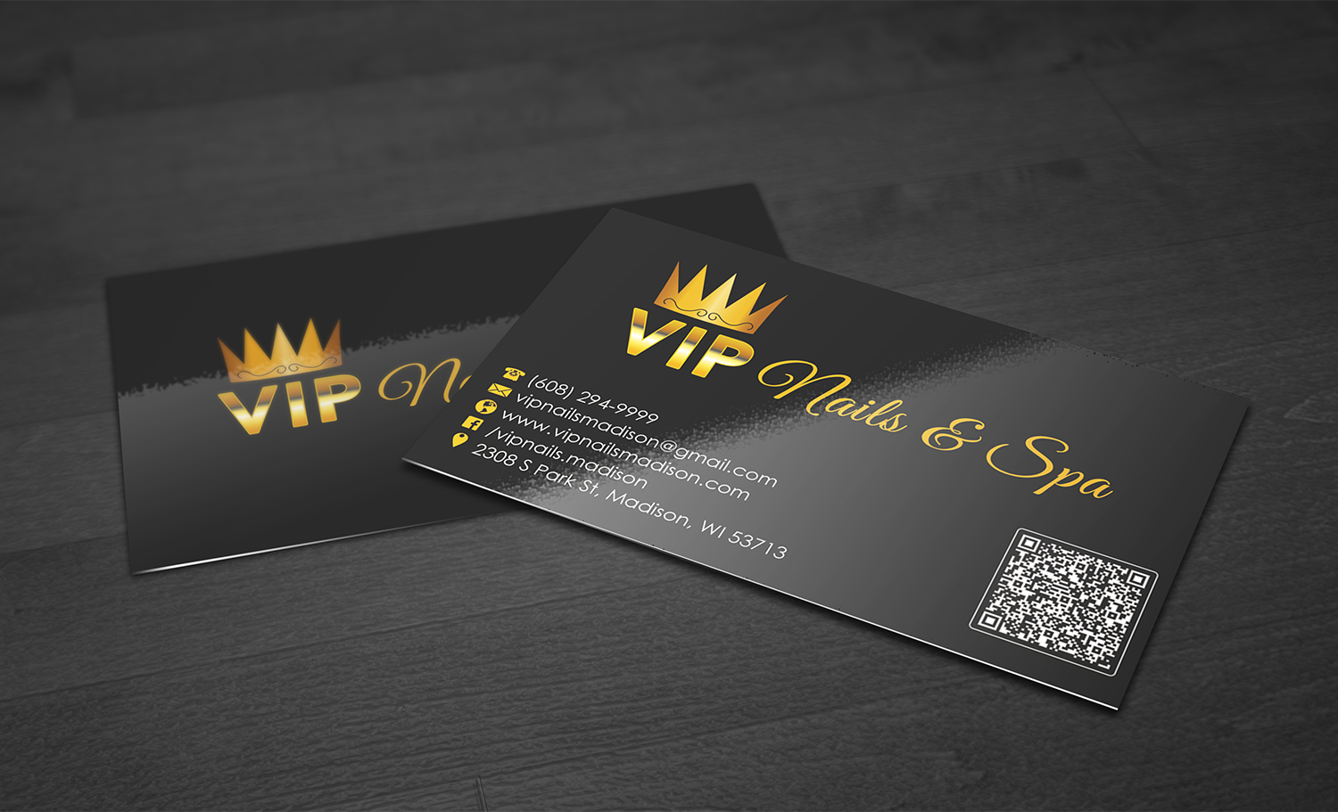 Elegant playful business business card design for vip nails spa business card design by premnice for vip nails spa design 9237688 reheart Choice Image