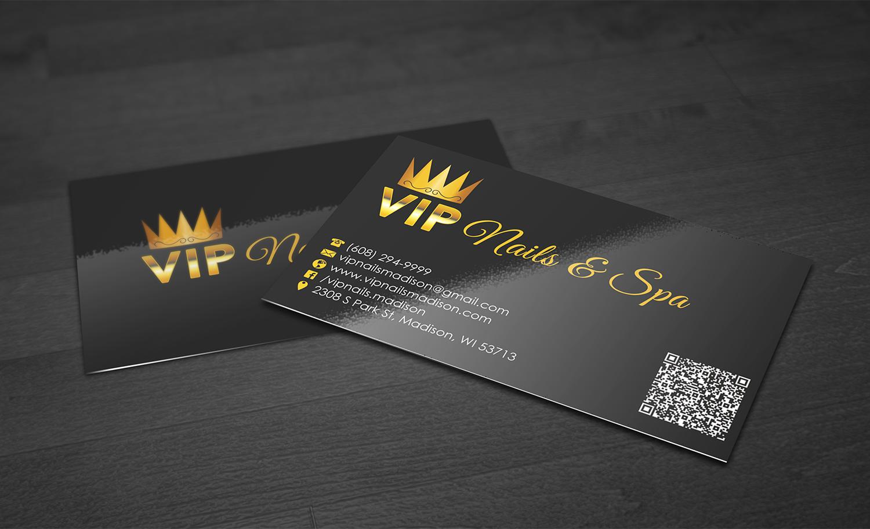 Elegant Spielerisch Business Visitenkarten Design Fur VIP Nails