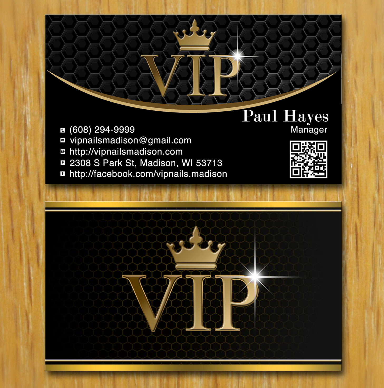 Elegant playful business business card design for vip nails spa business card design by creation lanka for vip nails spa design 8502963 reheart Choice Image