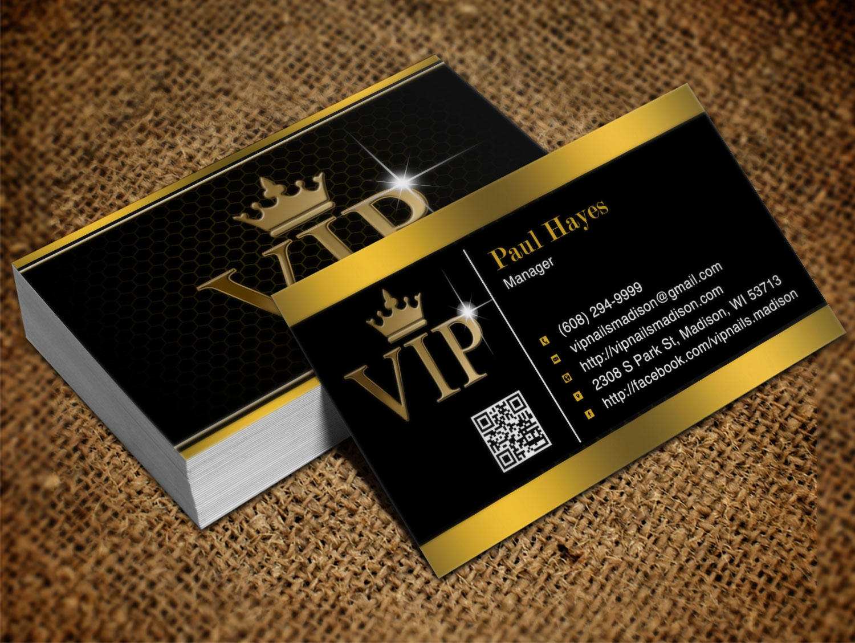 Elegant, Playful, Business Business Card Design for VIP Nails & Spa ...