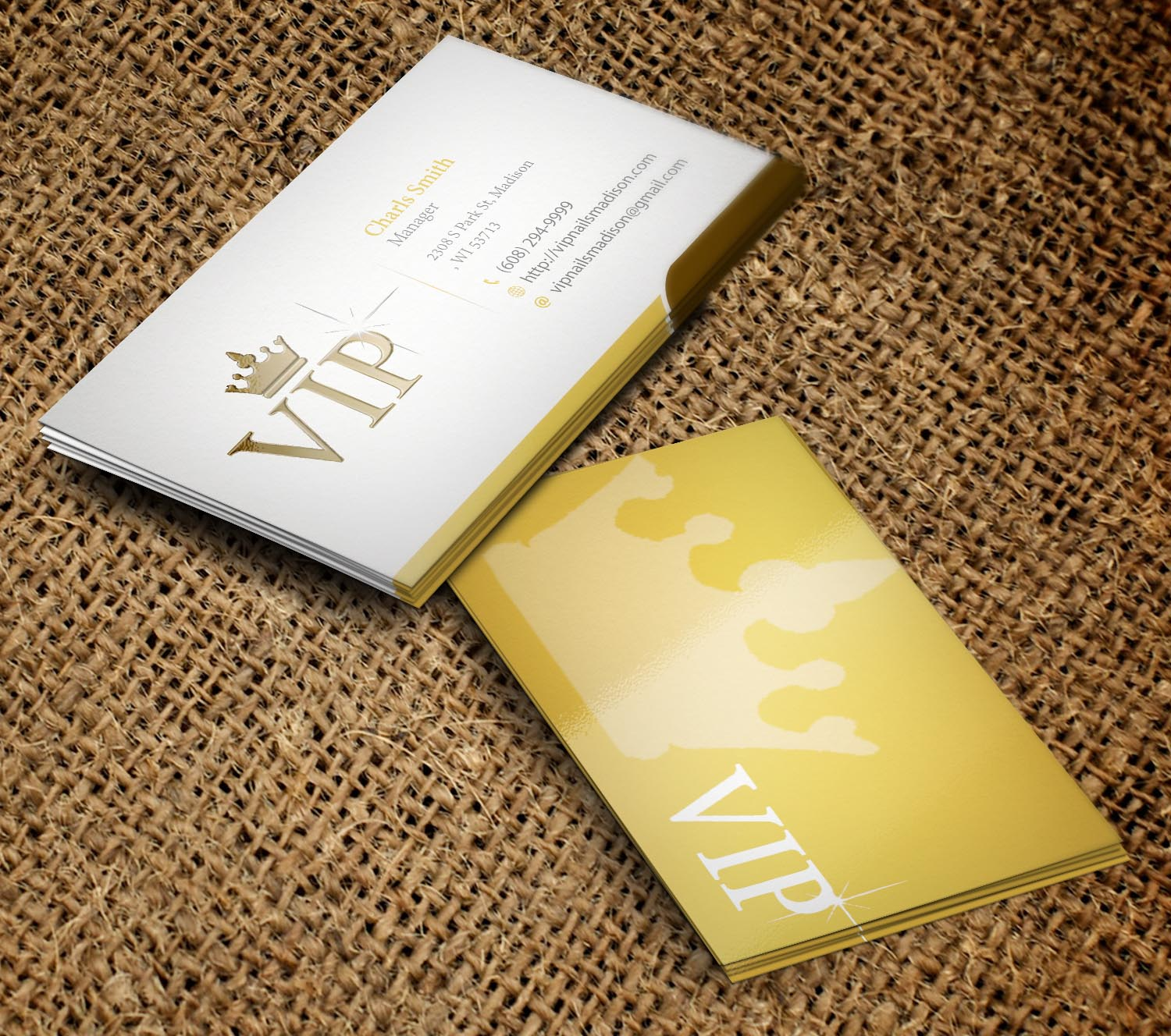 Elegant playful business card design for vip nails spa by business card design by primarydesigner2k9 for vip nails spa business card for nail salon reheart Choice Image