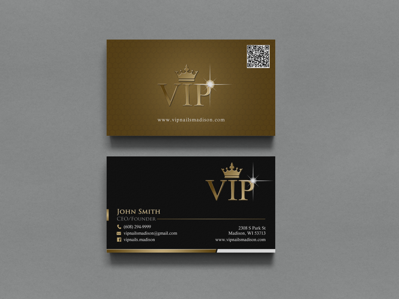 Elegant playful business business card design for vip nails spa business card design by chandrayaaneative for vip nails spa design 8506206 reheart Choice Image