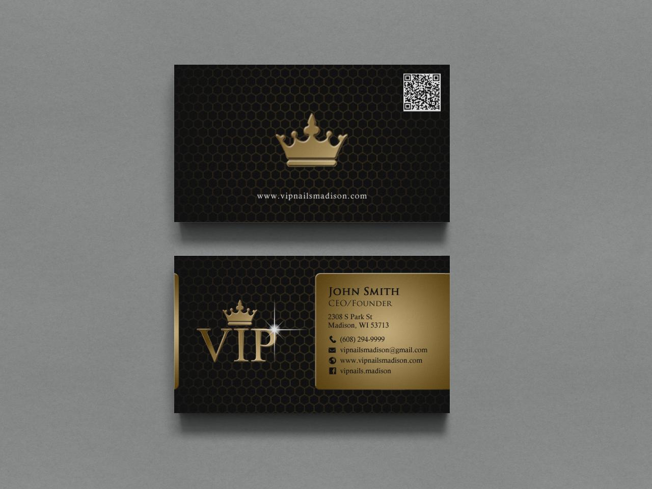 Elegant playful business business card design for vip nails spa business card design by chandrayaaneative for vip nails spa design 8506215 reheart Choice Image