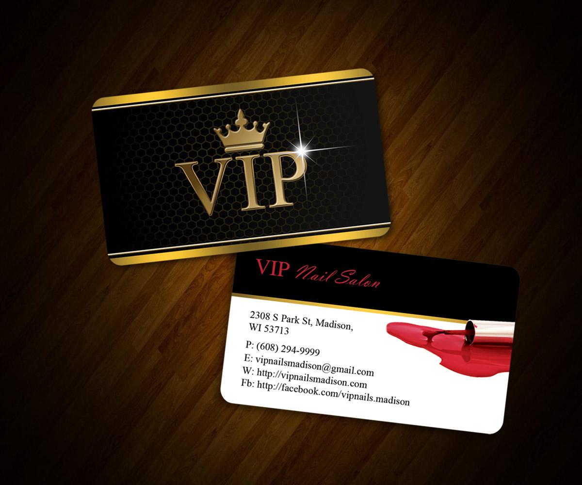 Design De Carte De Visite Elegant Leger Business Pour VIP Nails