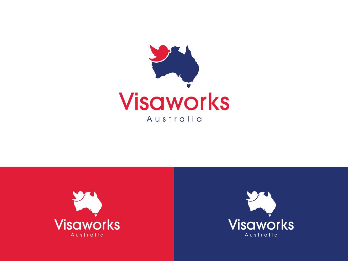 Elegant playful law firm logo design for visaworks for Australian design firms