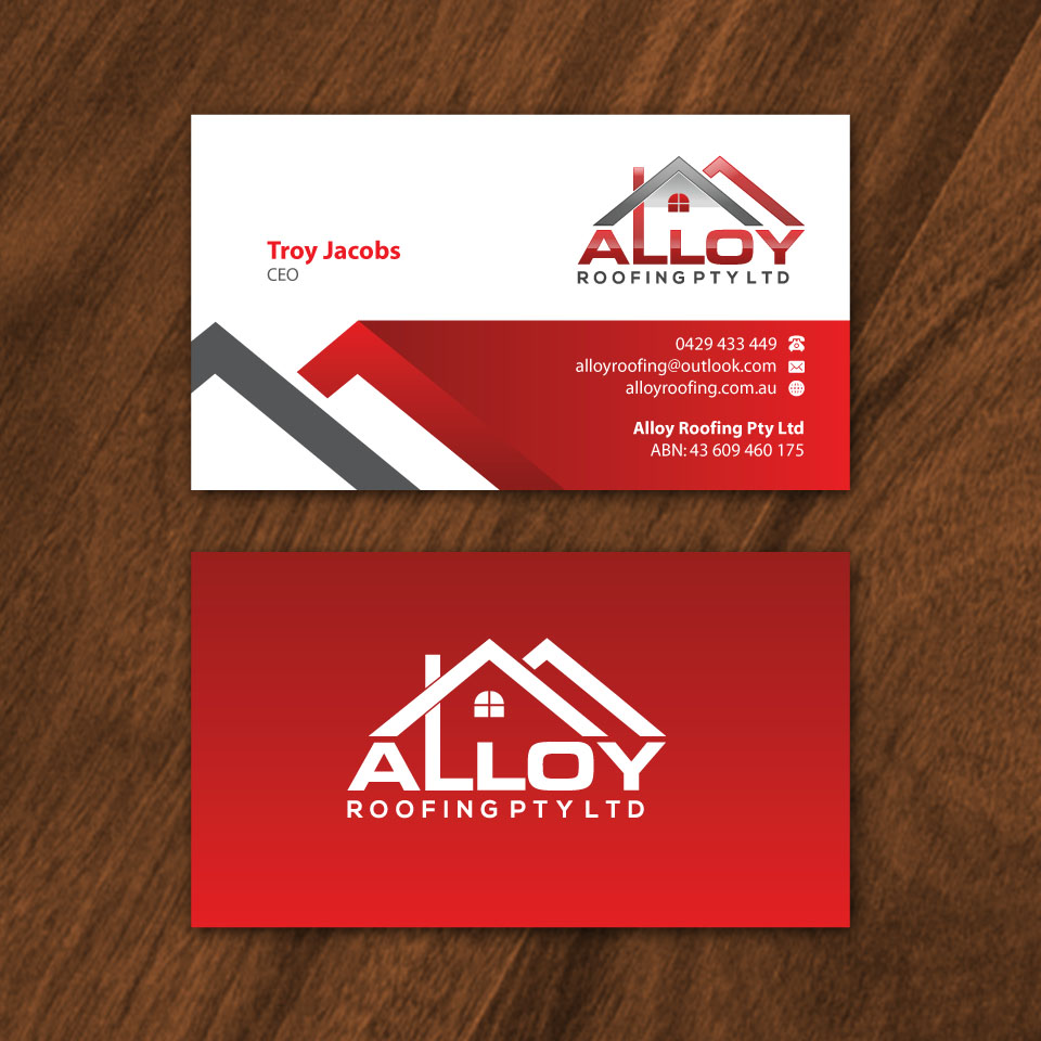 Stunning roofing business cards pictures inspiration business card modern professional business business card design for alloy reheart Gallery