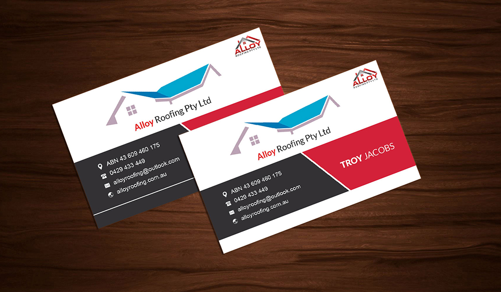 Modern, Professional Business Card Design for Alloy Roofing Pty Ltd ...