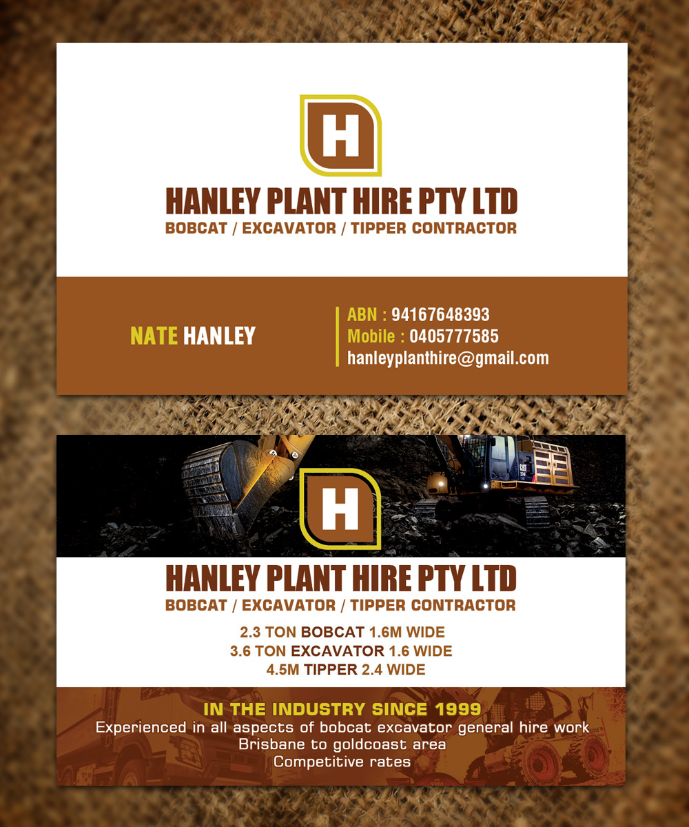 96 Business Card Designs | Contractor Business Card Design Project ...