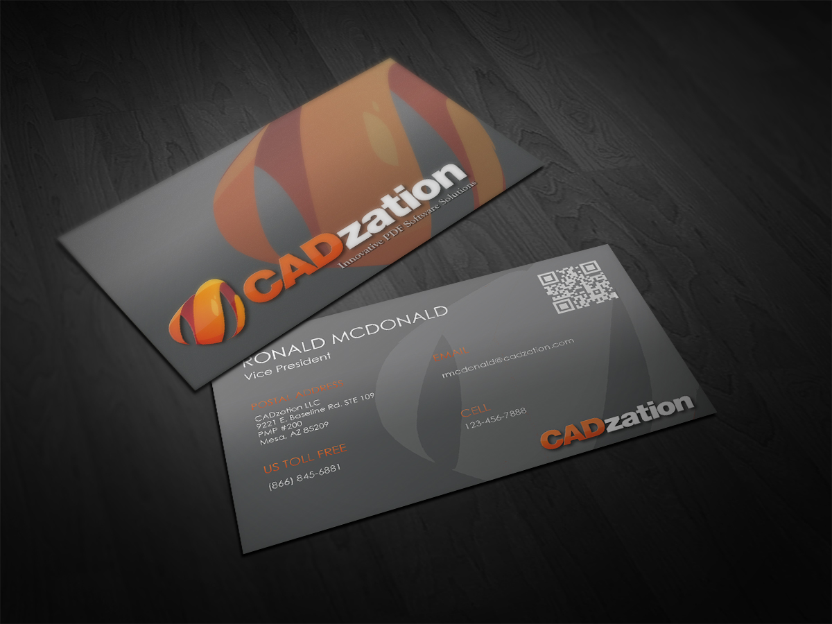 Professional, Upmarket Business Card Design for CADzation by ...