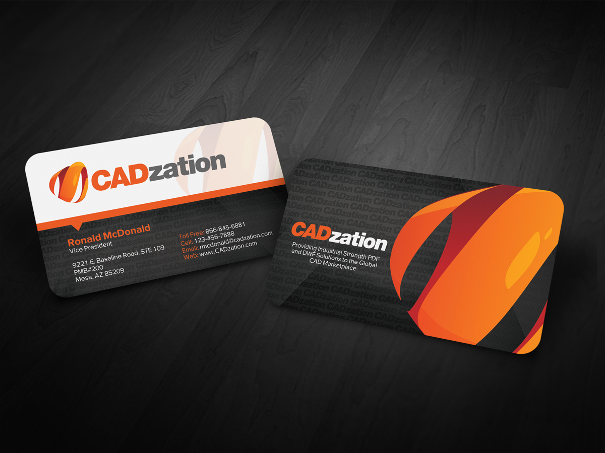 Professional, Upmarket Business Card Design for CADzation by diRtY ...