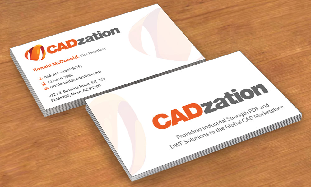 Professional, Upmarket, Business Business Card Design for CADzation ...