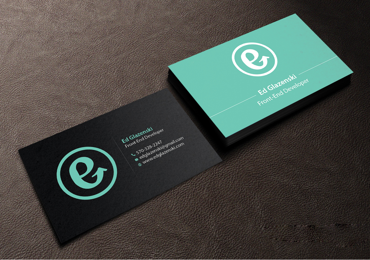 Bold, Modern Business Card Design for EG Web Design by Creations ...