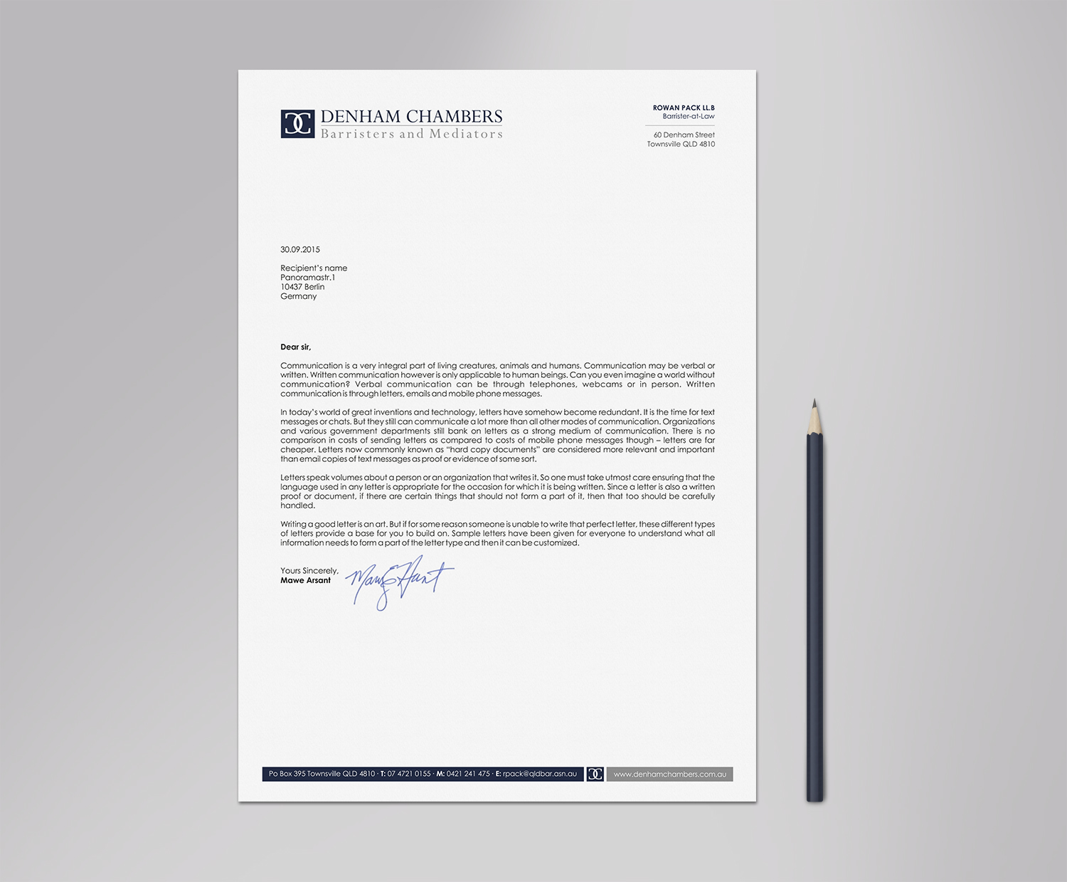 letterhead design by logodentity for this project design 10243448