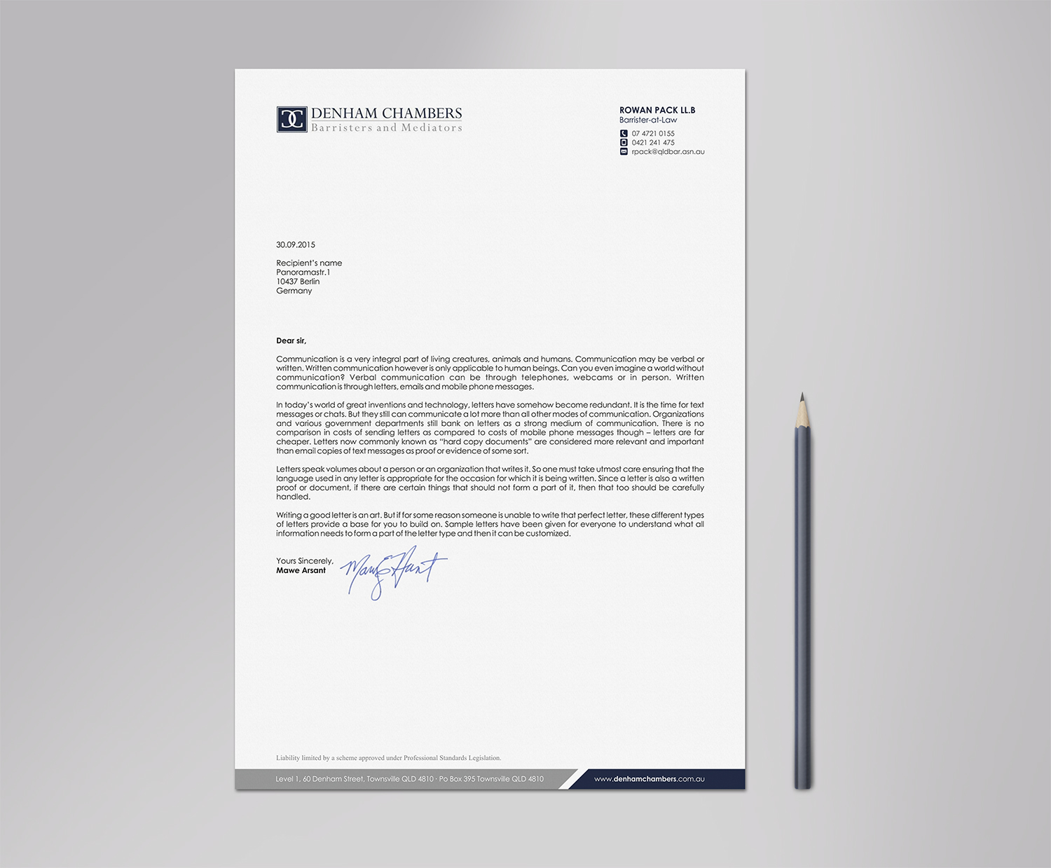 letterhead design by logodentity for this project design 10277035