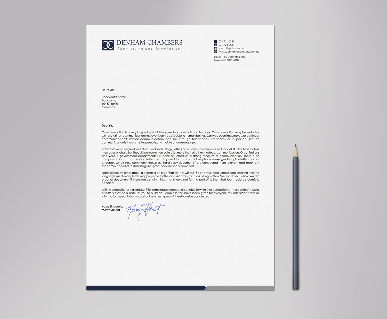 Modern professional letterhead design for rowan pack by logodentity letterhead design by logodentity for barrister letterhead incorporating existing logodesign design 8478218 spiritdancerdesigns Gallery