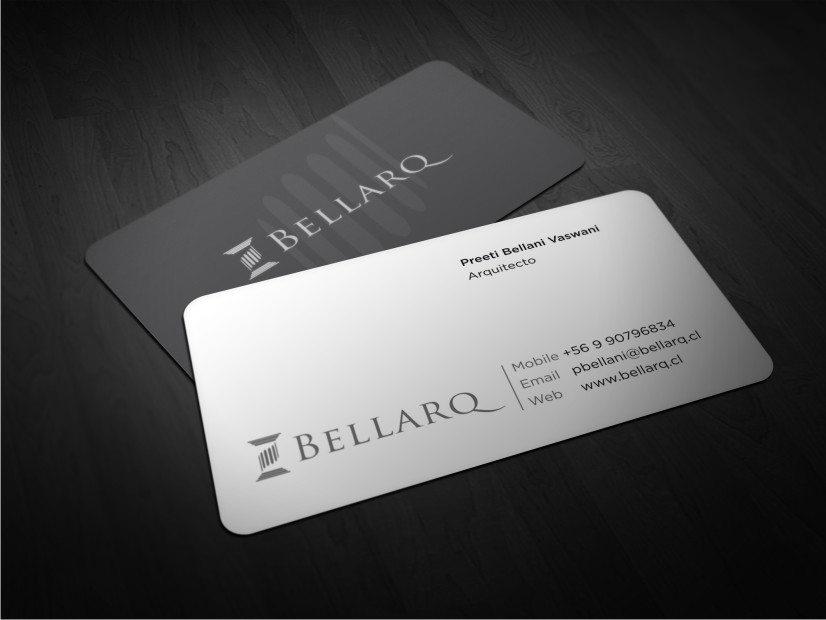 Business card design for preeti bellani by atvento for Architecture and design company