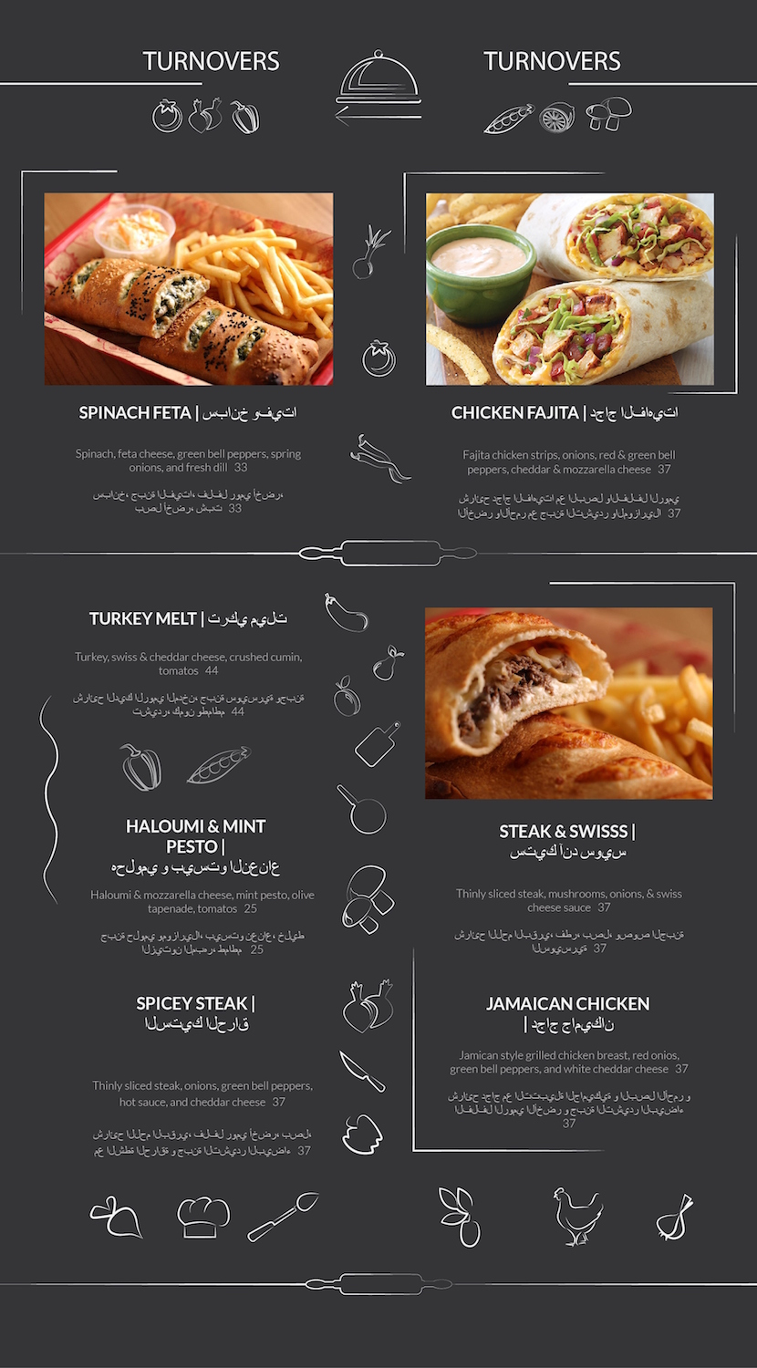 Restaurant menu design for a company by dii