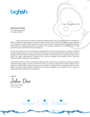 Letterhead design custom letterhead design service letterhead design by zadit spiritdancerdesigns Image collections