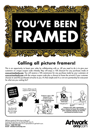 Flyer Design by penselkreatif - Sales pitch to Picture Framers