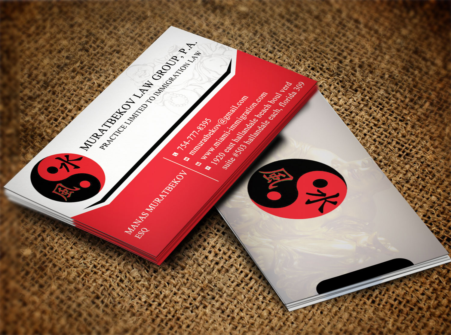 Professional masculine business business card design for business card design by creation lanka for muratbekov law group pa design 8518422 reheart