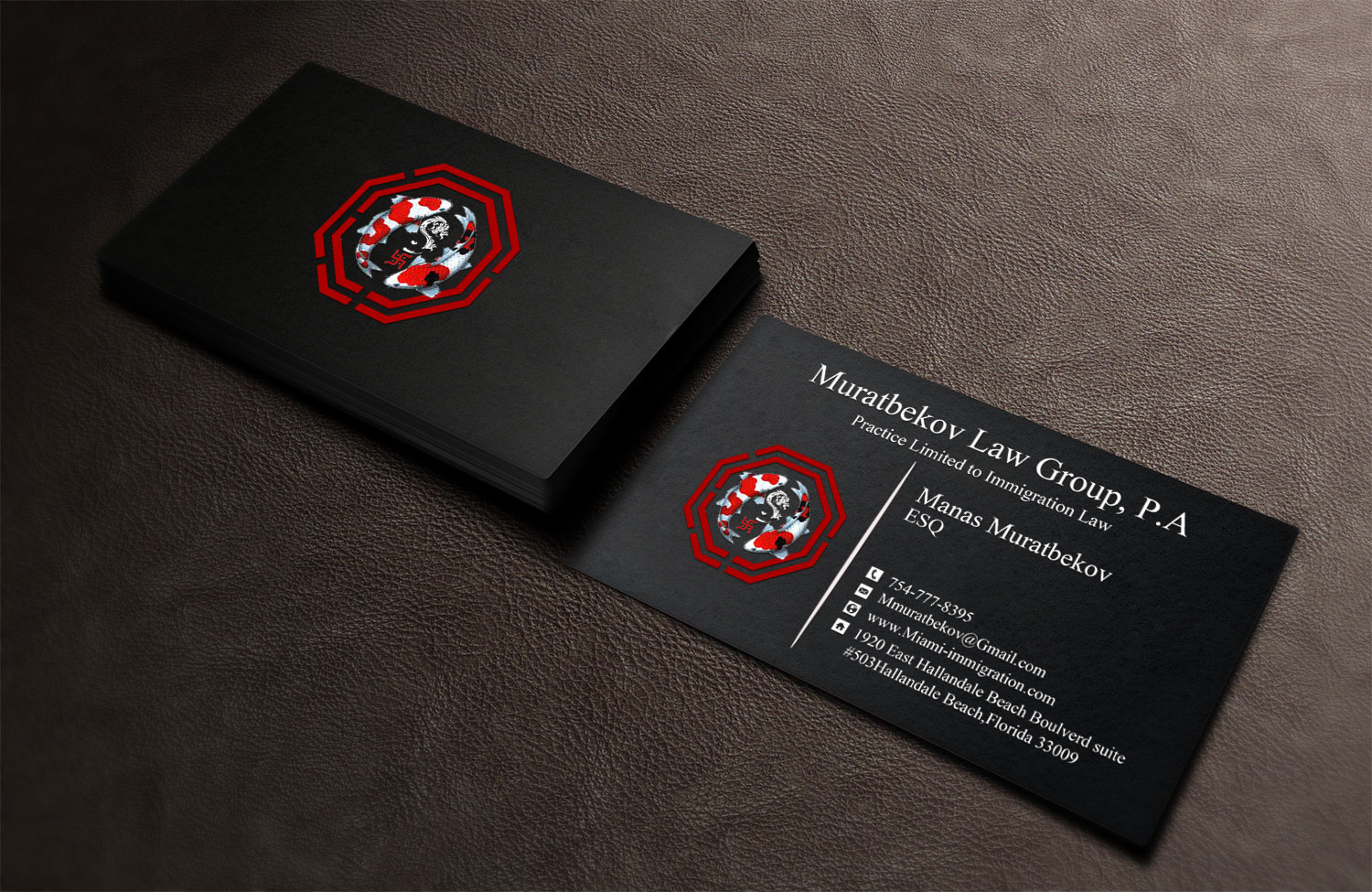 Excellent feng shui business card gallery business card ideas professional masculine business card design for muratbekov law colourmoves