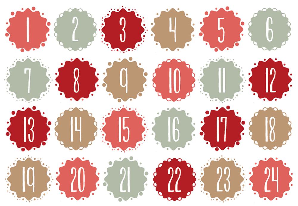 Calendar Number Design : Graphic design for mein adentskalender by tinnecornelissen