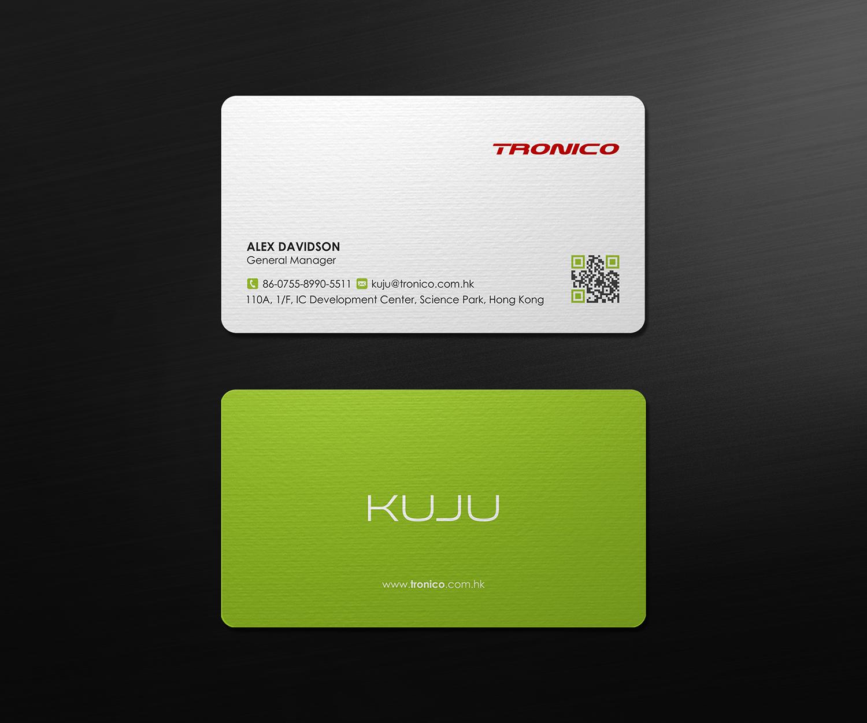 modern upmarket business card design for tronico technology