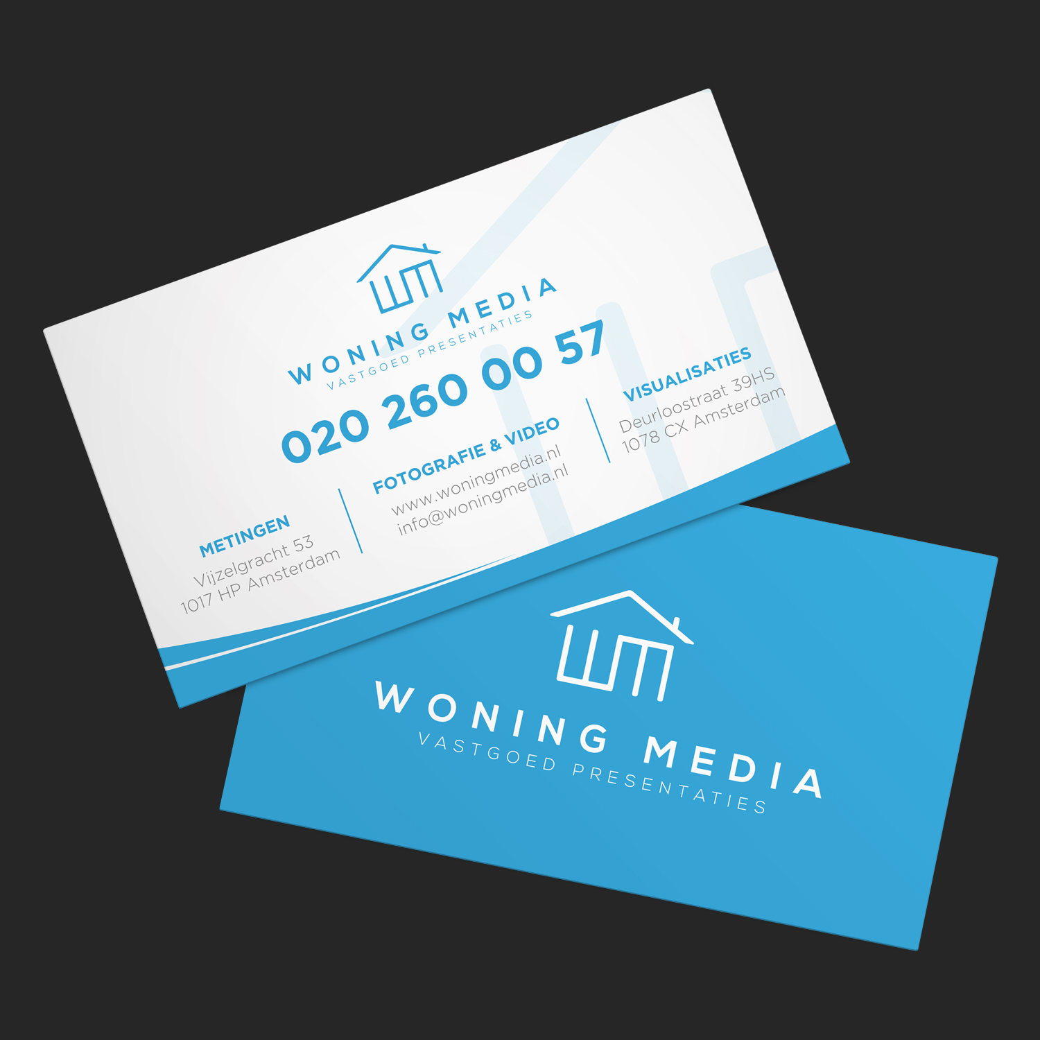 Modern, Professional Business Card Design for Woning Media by ...