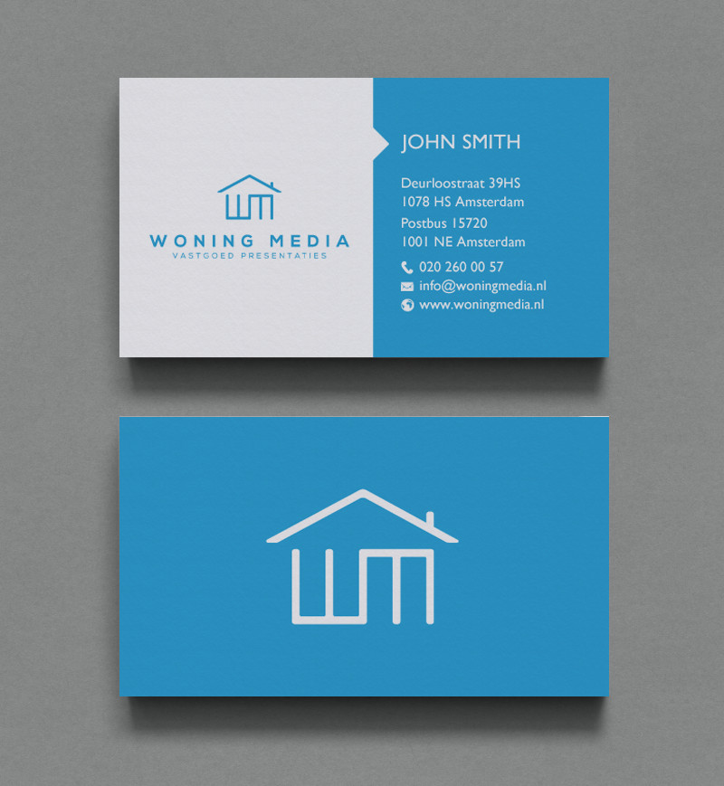 Modern professional business card design for woning media for Professional business card designs